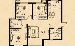 C户型 124.94�O 3室2厅2卫