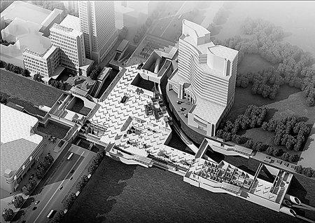石家庄地铁中山广场站规划效果图 将直通华润万象城
