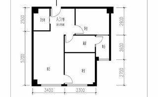 A3户型 约81.5�O 2室2厅1卫