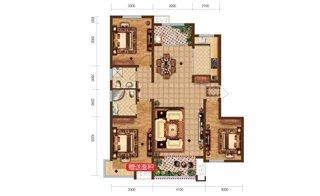 三室两厅一卫 面积:118.64