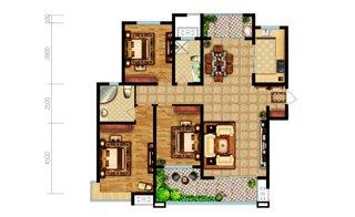 三室两厅两卫 面积:127.55