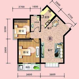 中阳润庭89.9平2室2厅1卫A户型