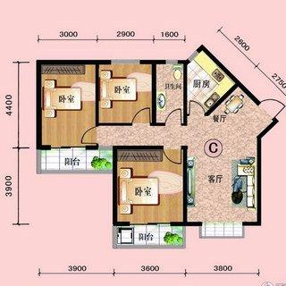 中阳润庭112.9平3室2厅1卫C户型