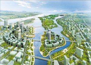 """石家庄增加了都市区规划层次,明确了北跨发展策略,确定了""""一河两"""