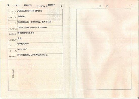 恭喜弘石湾项目喜获土地证