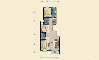 E区D1 四室四厅两卫 168平