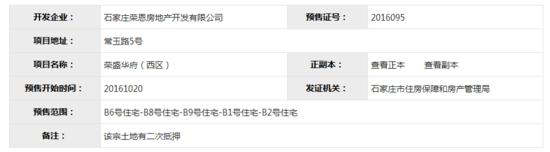 十月5大名企盘喜获预售证 长安区位居榜首