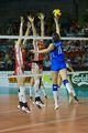 组图:中国女排0-3完败意大利 2连败无缘决赛