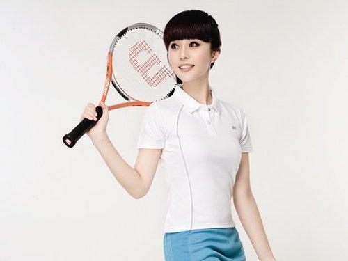 范冰冰领衔美女网球写真