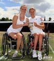 组图:温网彰显残缺美 轮椅女双荷兰组合夺冠