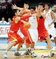 图文:男篮121-49印度 中国队严防死守