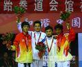 组图:左毅获十一运会跆拳道男子58KG级冠军
