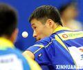 组图:全运会乒乓球团体赛 王励勤胜侯英超