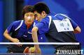 组图:全运会乒球赛 闫安/丁宁晋级混双四强
