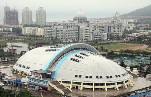 全运场馆之——威海市商业银行体育馆