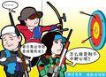 漫画:奥运冠军陷全运魔咒 射击射箭难中靶心