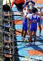 组图:轻量级2000米4人单桨无舵手辽宁队夺冠