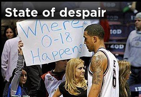 篮网18连败破NBA纪录 新泽西陷入诡异魔咒?