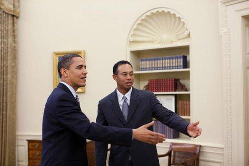 伍兹获美国总统力挺 奥巴马最担心老虎处境