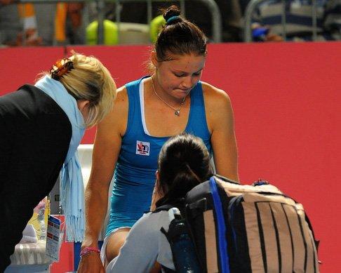 萨芬娜因伤退赛 基里连科首进澳网八强战郑洁