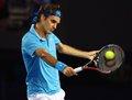 图文:澳网决赛费德勒PK穆雷 费德勒反手击球