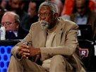图文:NBA传奇巨星比尔拉塞尔投身全明星周末