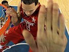 组图:球星也会武术 威廉姆斯打出如来神掌
