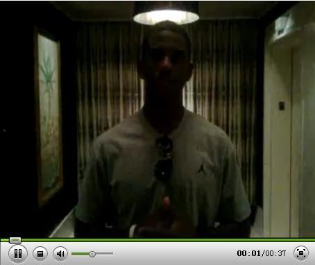 视频:保罗自拍视频祝福乔丹 称飞人精神导师