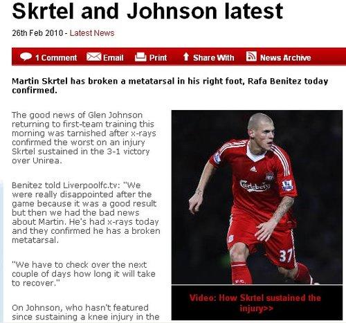 利物浦宣布球队支柱骨折 右路一悍将火线复出