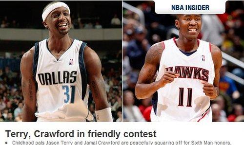 NBA官网:两人角逐最佳第六人 老鹰抽风男占优