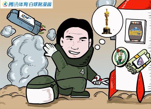 漫画:众将复出影帝发威 火箭拆掉奇才