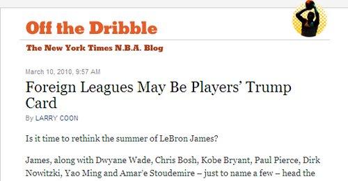劳资谈判恐致NBA停摆 海外联赛成球星收容站