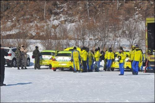 三度雪地试车 挑战炼就贵州百灵车队精锐力量