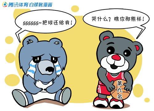 漫画:火箭熊打劫灰熊 四连胜升至西部第九