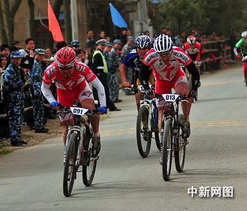 浙江长兴举行首届山地自行车挑战赛(图)