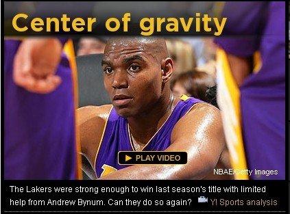 Yahoo:湖人争冠中锋是关键 拜纳姆亟待爆发