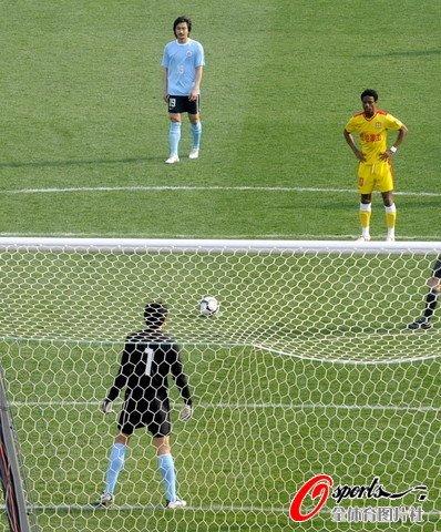 陕西1-1大连 卡隆中超首球实德外援零度破门
