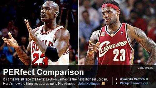 ESPN:詹姆斯就是下一个乔丹 至少无限接近神
