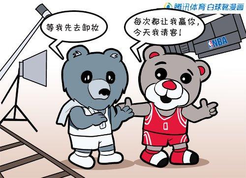 漫画:难兄难弟逢场作戏 火箭横扫灰熊