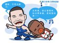 漫画:小布清唱《无所谓》 火箭拖住爵士后腿