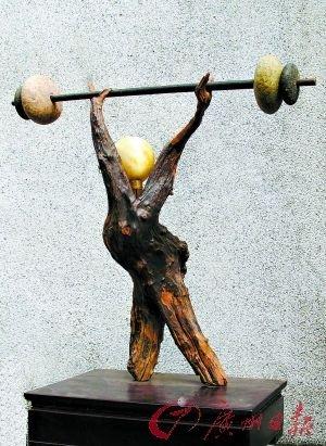 手工体育用具_广州市民创新手工自然材料体育用具献亚运