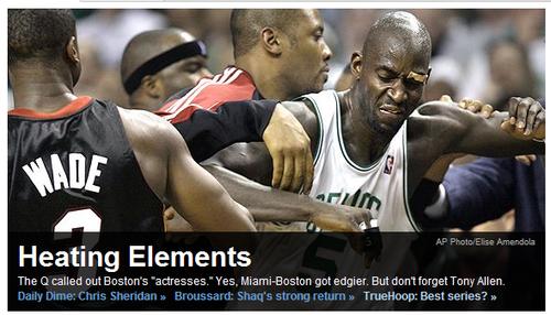 ESPN:季后赛成加热器 热火绿衫军险演全武行