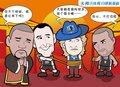 漫画:石佛念咒擒德克牛仔 马刺屠牛扳平比分