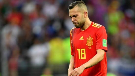 西班牙队离开世界杯