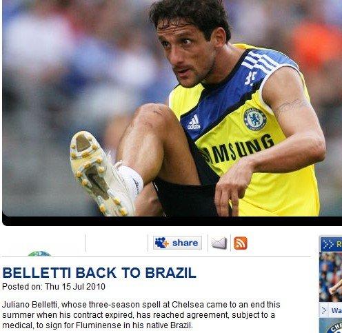 切尔西宣布清洗巴西铁卫 曾绝杀枪手问鼎欧冠