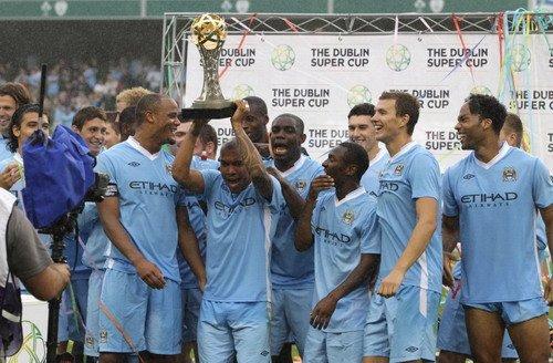 都柏林杯-曼城夺冠3-0国米 巴洛特利反戈一击