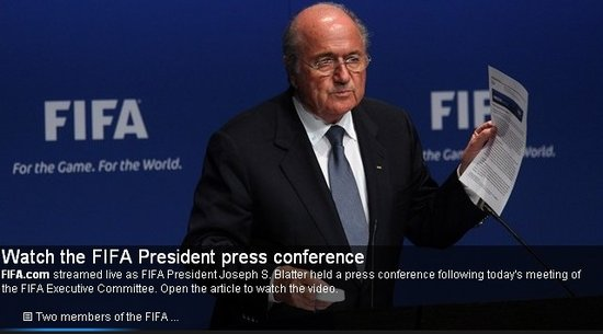 FIFA发布会布拉特否认贿选 2022世界杯无变动