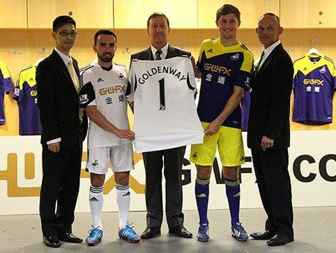 金道签约成为斯旺西城足球俱乐部主赞助商