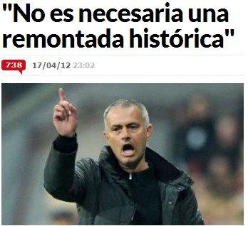 穆里尼奥:誓死杀回安联 皇马本该赢拜仁3比1