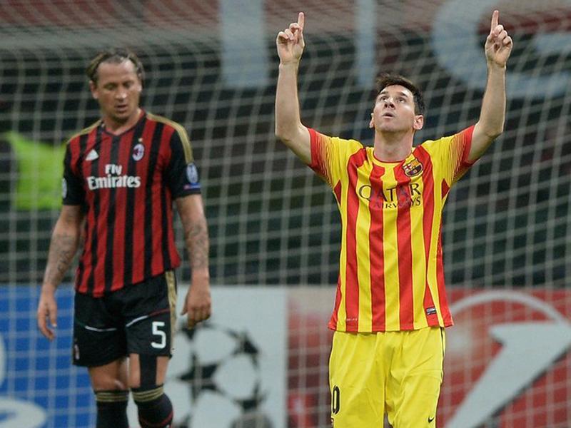 全场集锦:梅西破门卡卡献助攻 AC米兰1-1巴塞罗那截图